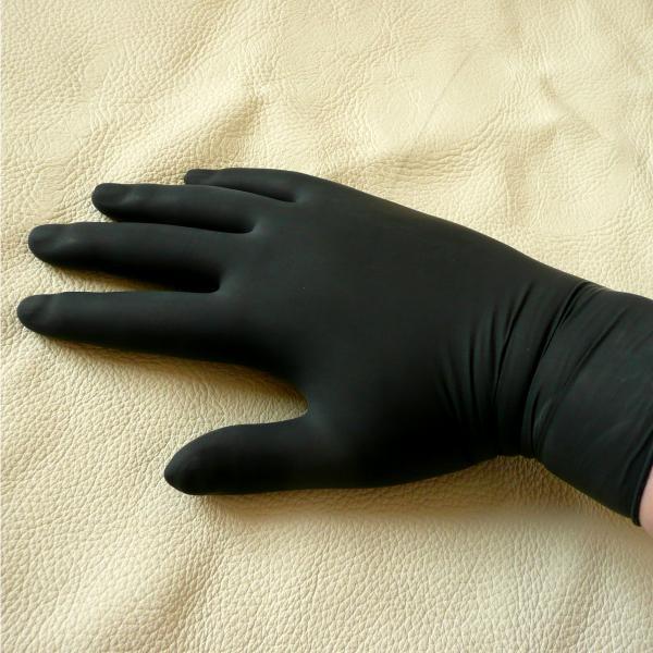 Latex-Untersuchungshandschuhe schwarz, 10 Stück