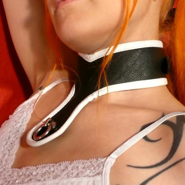 """""""Sefa"""" - Halsband der """"O"""", schwarz/weiß"""