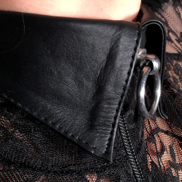 Kragen-Halsband, schwarz