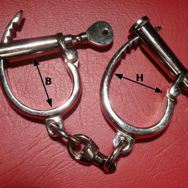 Darby - Handschellen, seidenmatt