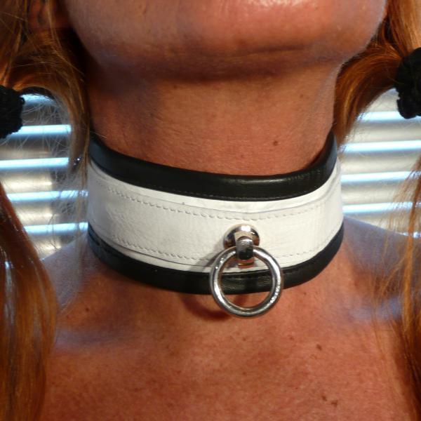 """""""Sefa"""" - Halsband weiß/schwarz"""