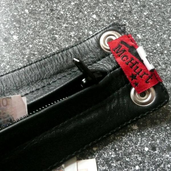 Geldbörsen-Armband mit Reißverschluss, schwarz