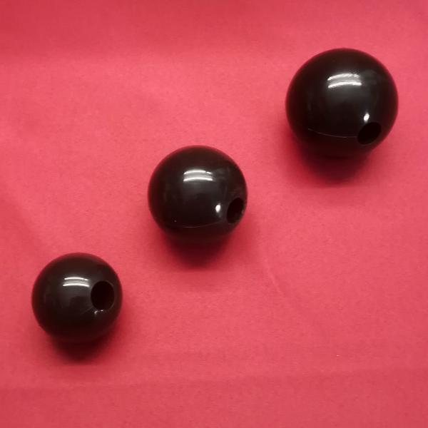 Silikonball einzeln, schwarz