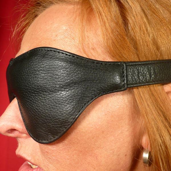 Leder-Augenmaske, breit