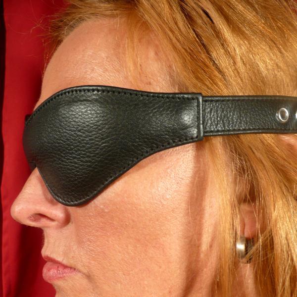 Leder-Augenmaske, schmal