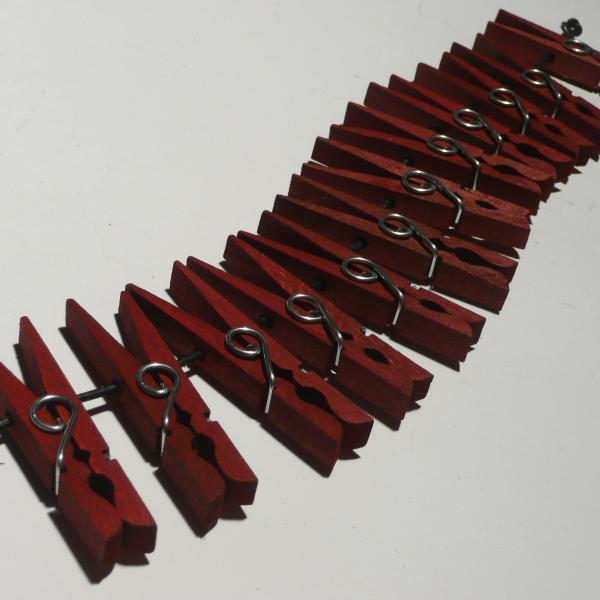 Holzklammern, rot, 12er-Set