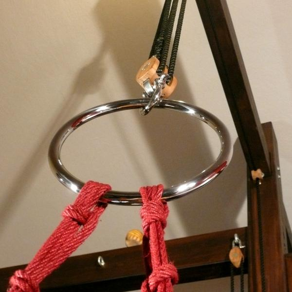 Bondage-Ring aus Edelstahl