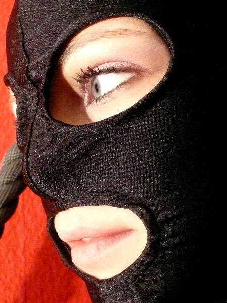 Elastic Kopfmaske, mit Augen- und Mundöffnung