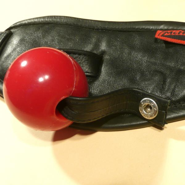 Lederknebel für Silikon-Ball