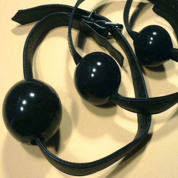 Silikon-Ballknebel, schwarz